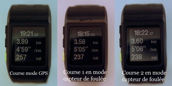 Montre Nike+ Sportwatch GPS en mode GPS et capteur foulée