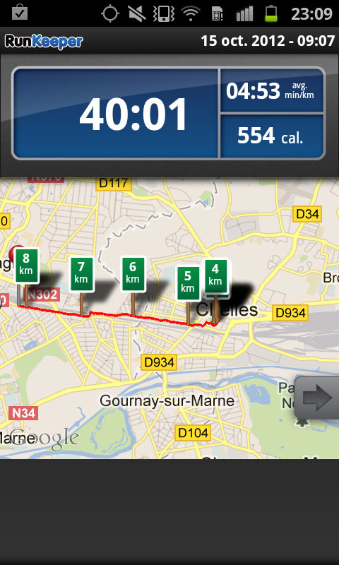 Appli RunKeeper_Android_capture