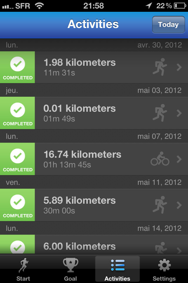 Appli RunKeeper__Activites_capture