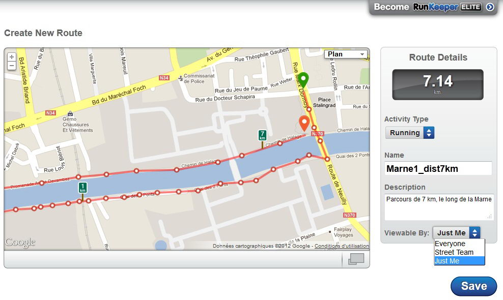 Site RunKeeper_creationRoute_capture