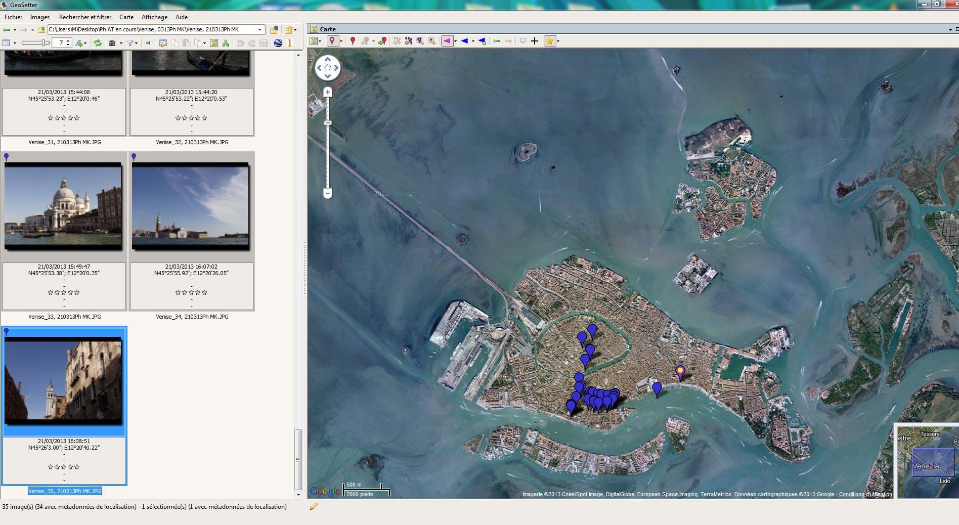 Logiciel GeoSetter
