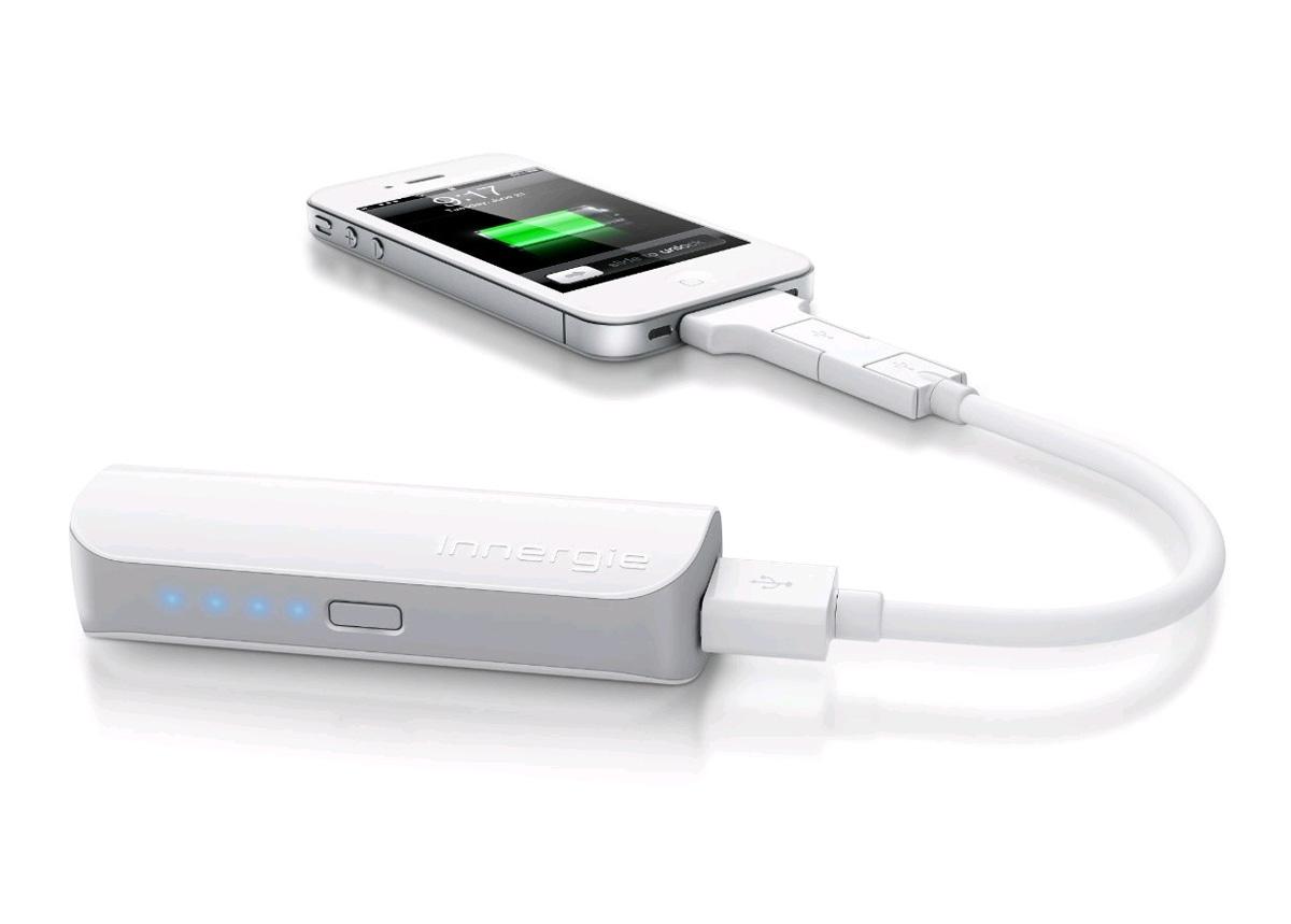 Le rechargeur Innergie PocketCell (avec un iPhone)