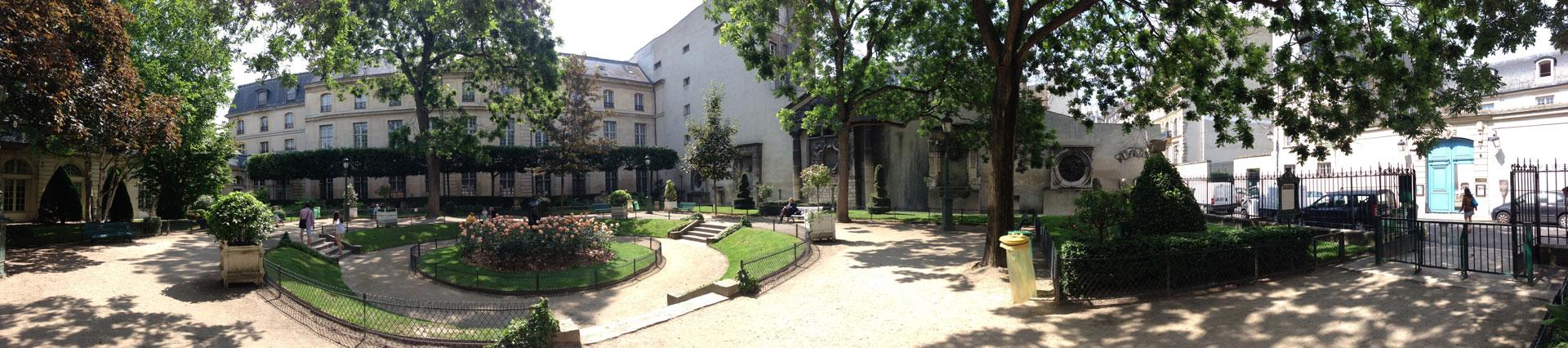 Le square Georges Cain, Paris, 07 2013. Ph. Moctar KANE.