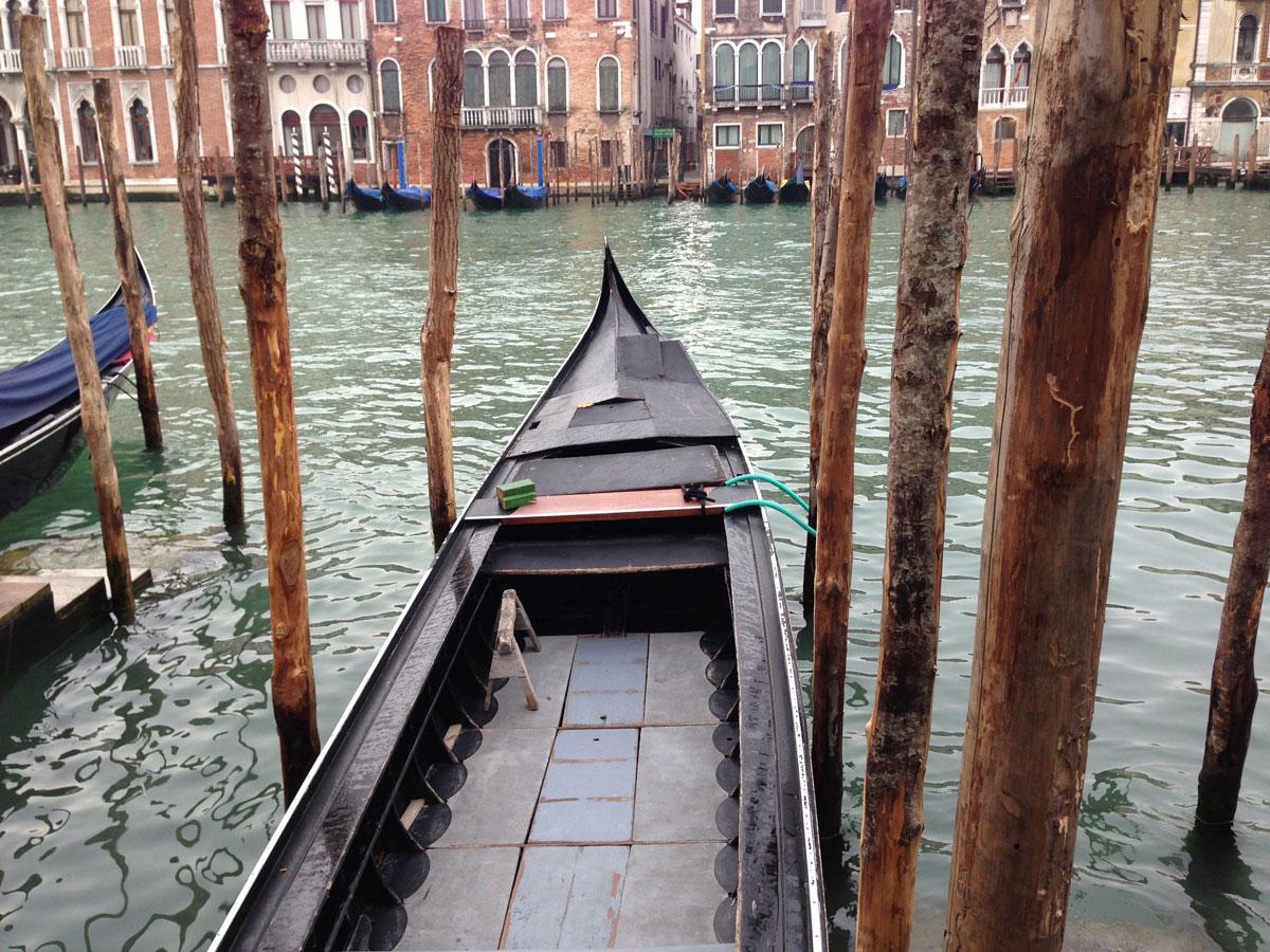 Gondoles sur le Canal Grande, Venise 03 2013, Ph. Moctar KANE.