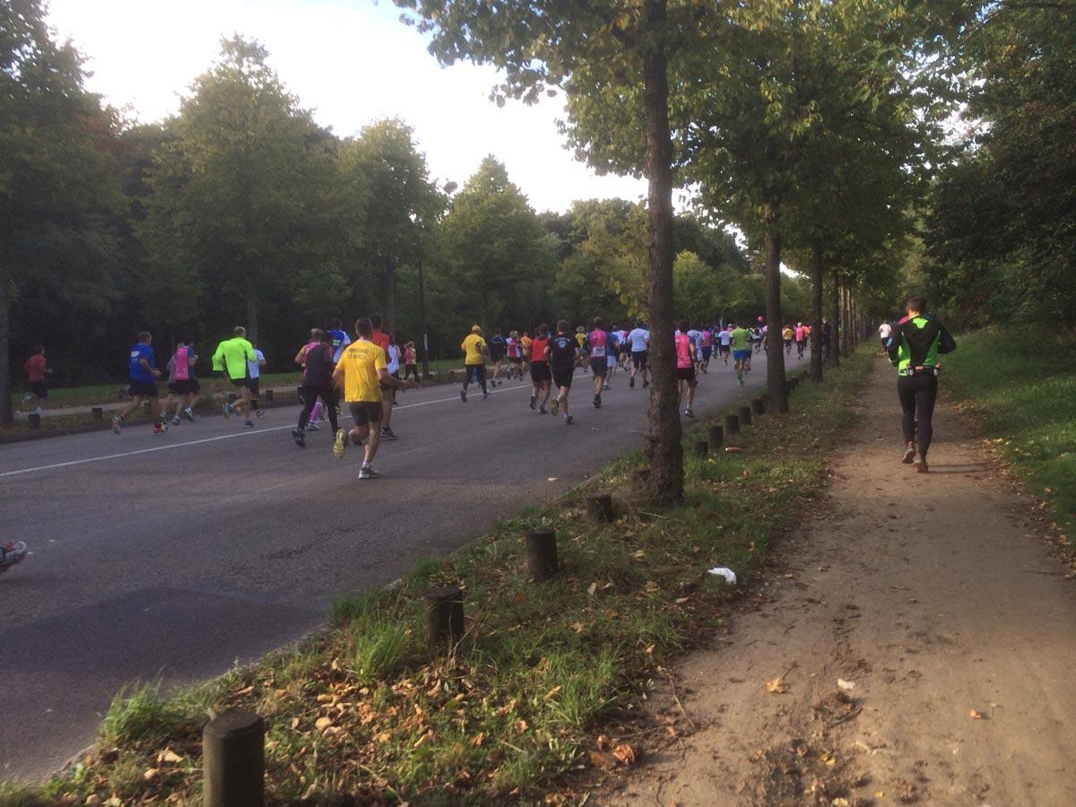 Portion Bois de Boulogne pendant la course 20 km de Paris, Paris 13 10 2013, Ph. Moctar KANE.
