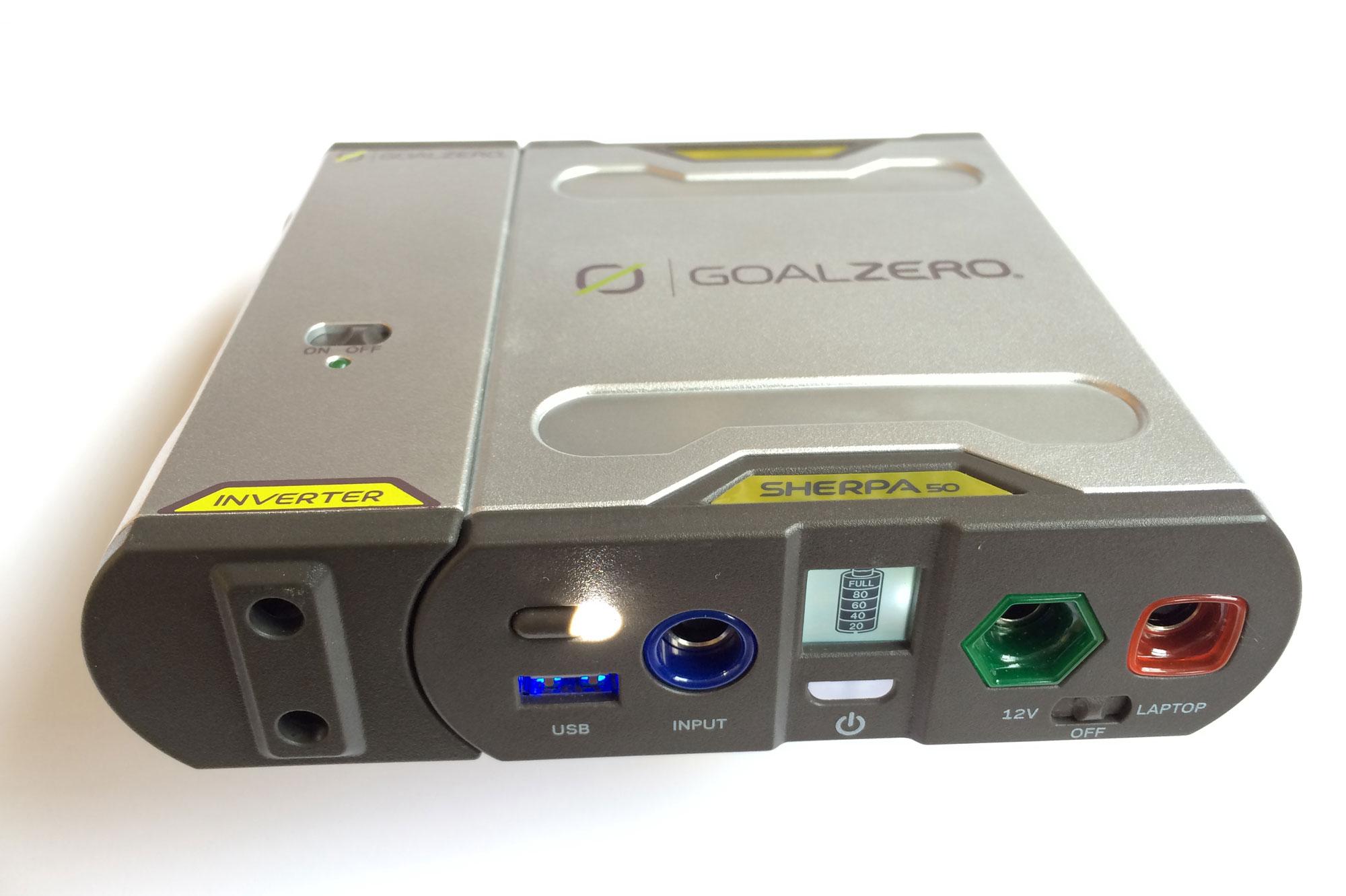 Le rechargeur Goal Zero Sherpa 50. Ph. Moctar KANE.