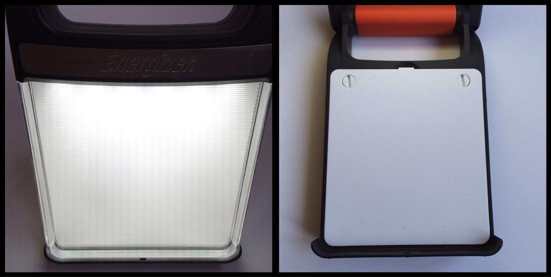 L'Energizer Led Folding Lantern, avec le panneau lumineux plié ou déplié. Ph. Moctar KANE.