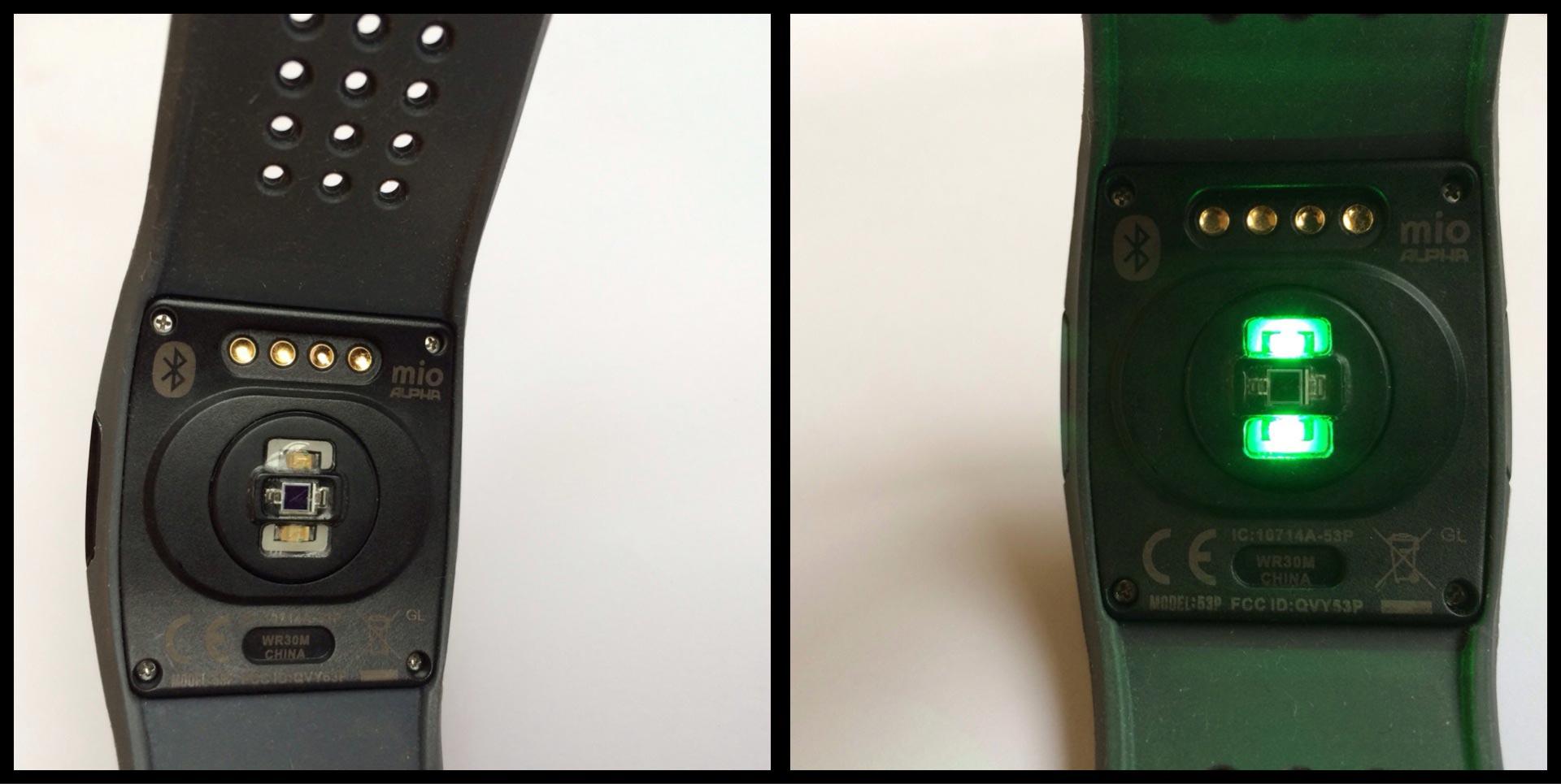 La montre Mio Alpha, avec ou sans les LED illuminées. Ph. Moctar KANE.