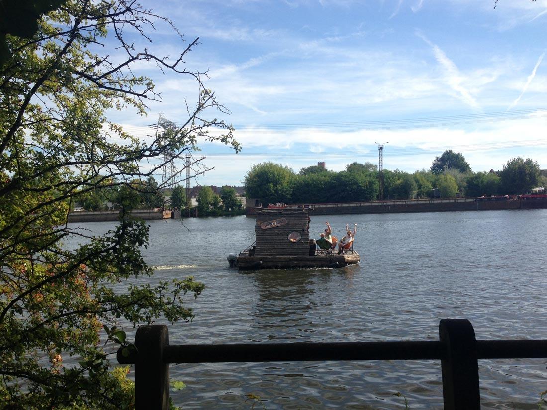 La rivière Spree à Spreepark, Berlin, 09 2013. Ph. Moctar KANE.