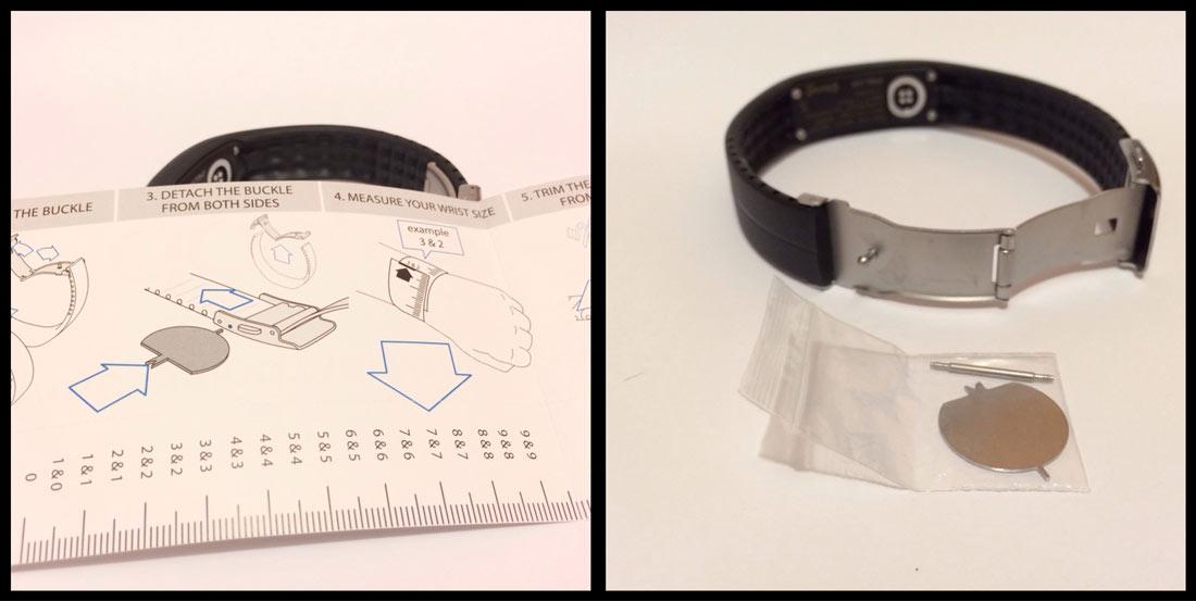 Bracelet Polar Loop et le kit pour ajuster sa circonférence au poignet. Ph. Moctar KANE.