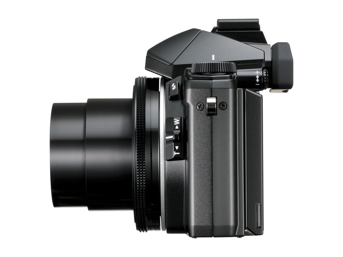 L'APN compact Olympus Stylus 1 : à noter, la seconde commande du zoom.