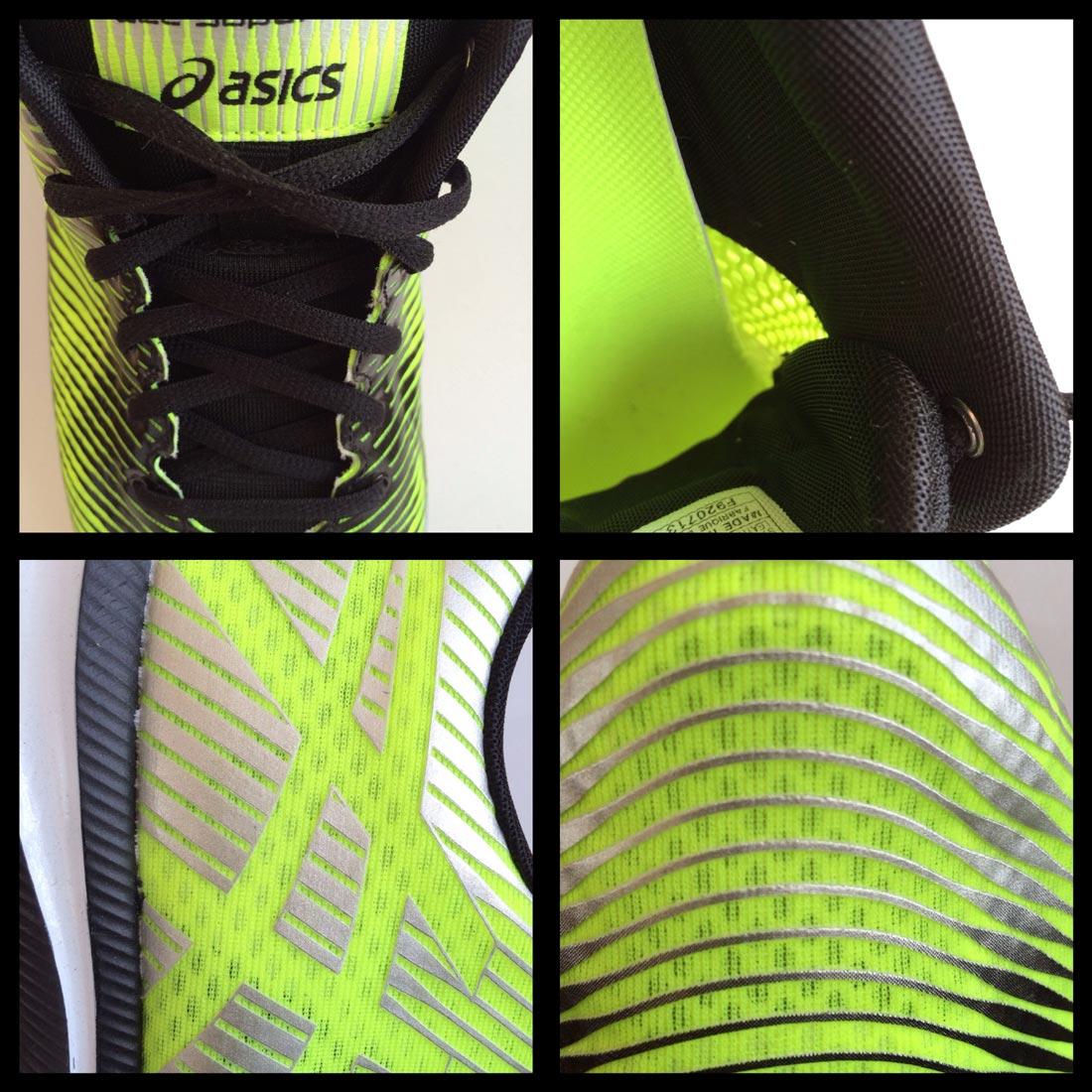Détails de la chaussure de running Asics Gel-Super J33. Ph. Moctar KANE.