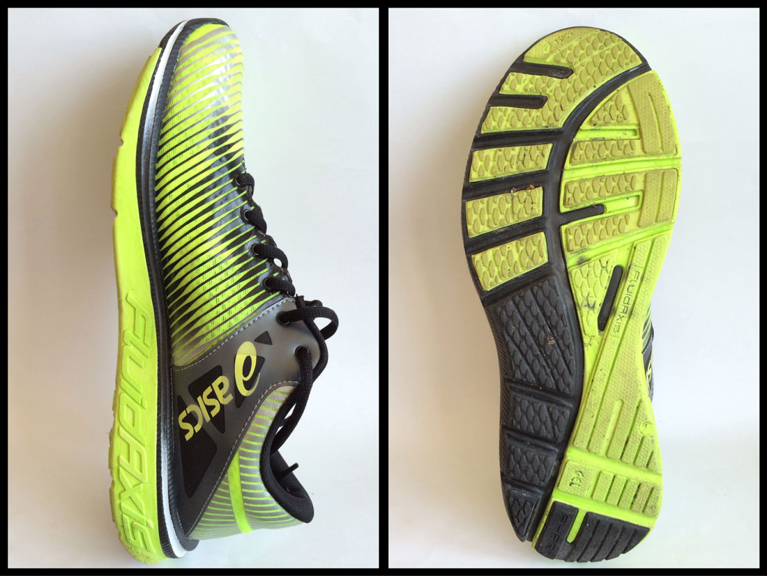 La chaussure de running Asics Gel-Super J33. Ph. Moctar KANE.
