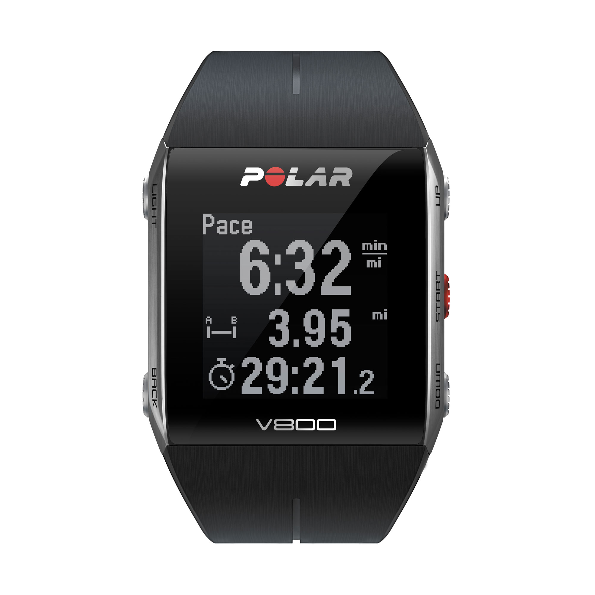 La montre GPS de sport Polar V800, en version noire. Ph Moctar KANE.