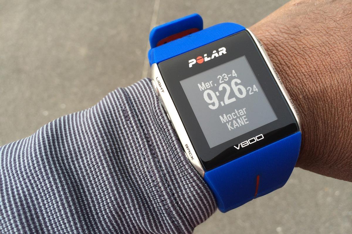 La montre de sport GPS Polar V800 est personnalisable. Ph Moctar KANE.