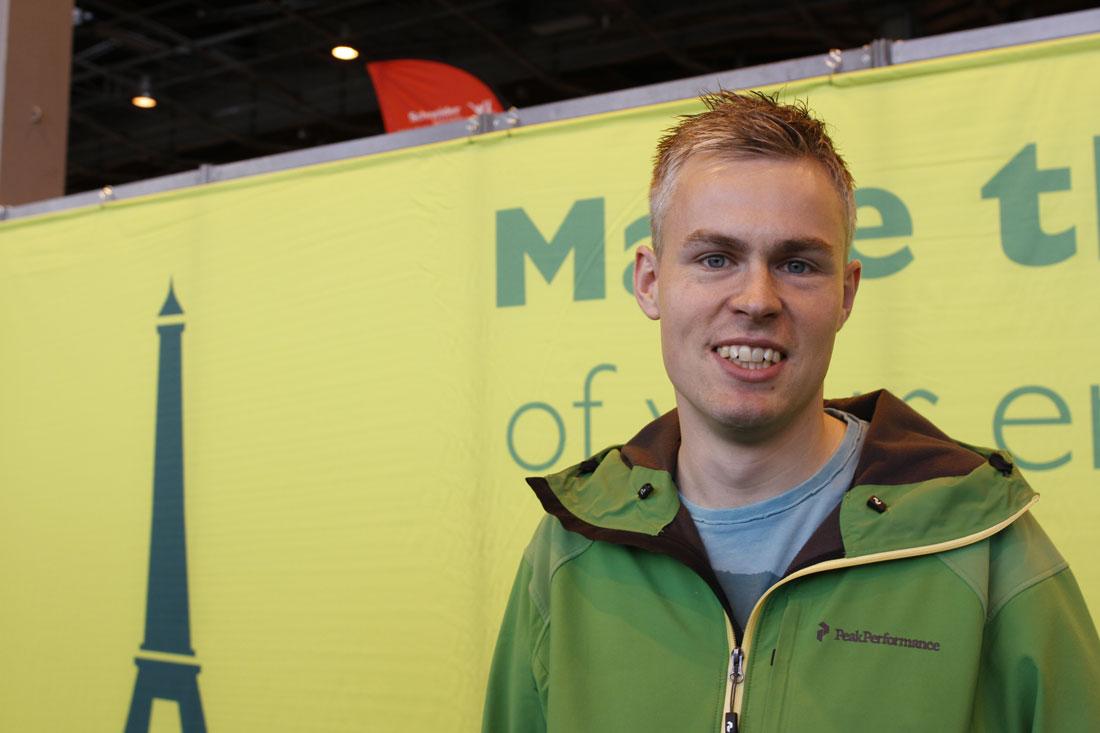 Marathon de Paris 2014 : Jakob, dit Mozart. Ph. Moctar KANE.