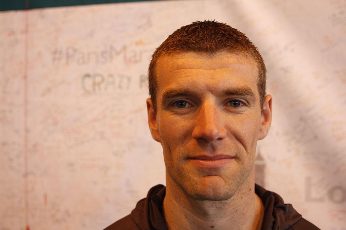 Marathon de Paris 2014 : Maxence. Ph. Moctar KANE.