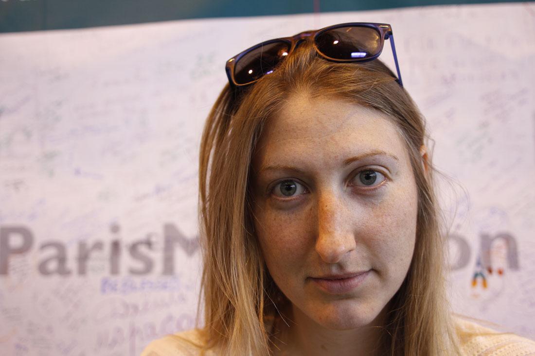 Marathon de Paris 2014 : Elizabeth. Ph. Moctar KANE.