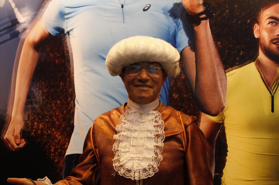 Marathon de Paris 2014 : Jean-Claude, dit Mozart. Ph. Moctar KANE.