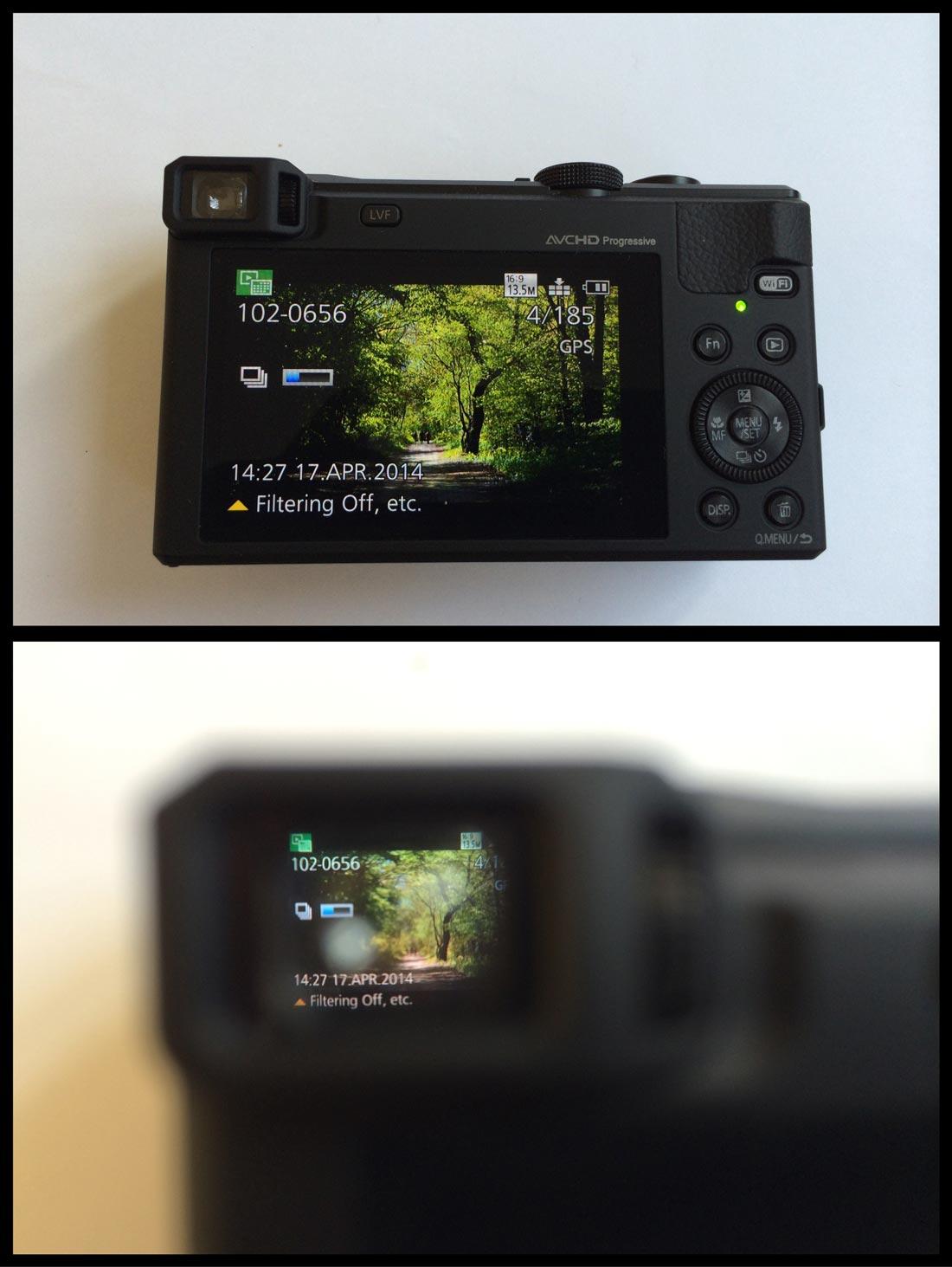 Le Panasonic TZ60 bénéficie d'un viseur électronique. Ph. Moctar KANE