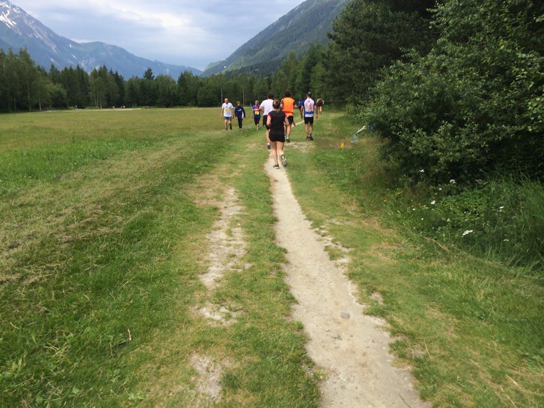 Les 10 km du Mont-Blanc, Chamonix, 28 06 2014 : vers de l'arrivée. Ph. Moctar KANE.