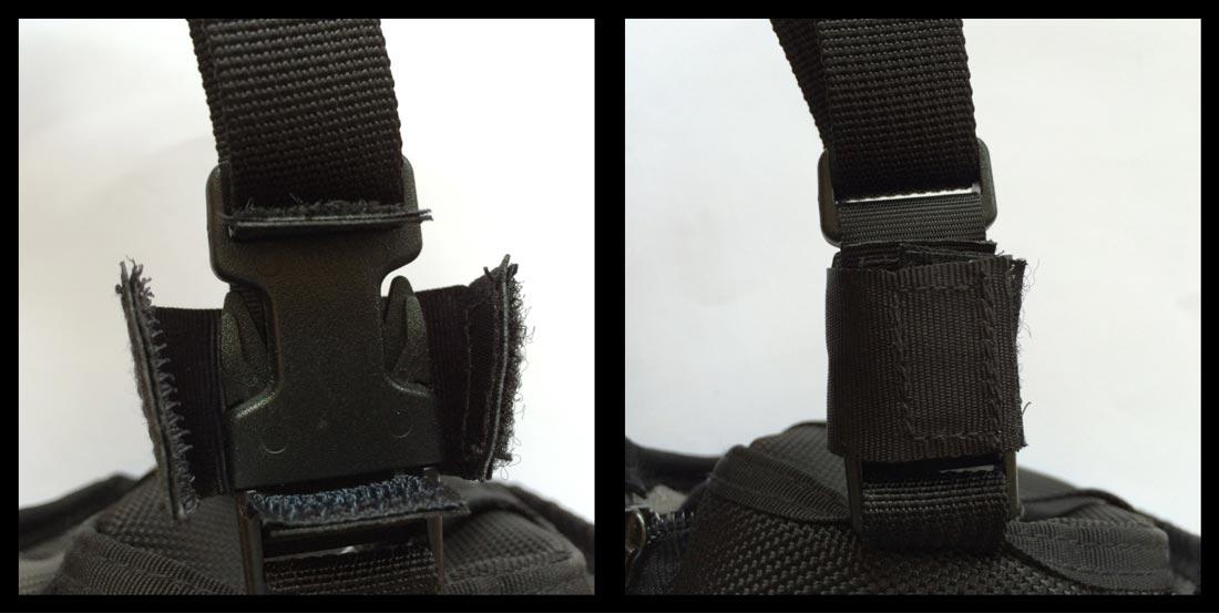 Le BlackRapid SnapR 35 et le scratch de renfort d'attache Ph. Moctar KANE.