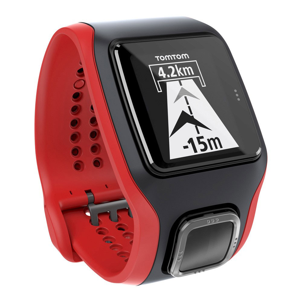 montre tomtom multisport noir rouge avec cardio integre. Black Bedroom Furniture Sets. Home Design Ideas