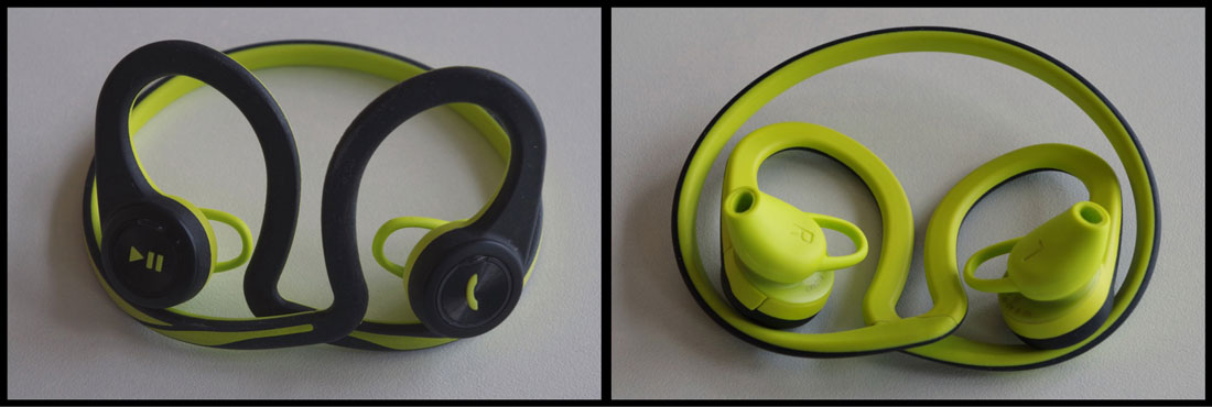 Ecouteurs intras de sport Bluetooth Plantronics BackBeat FIT enroulés, Ph. Moctar KANE.