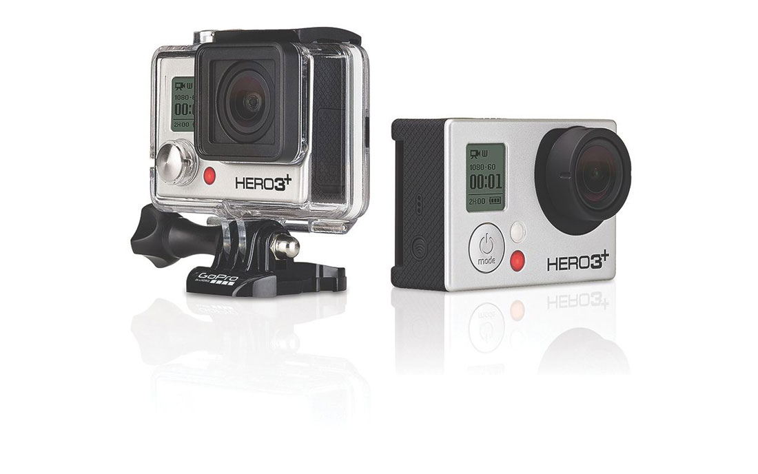 L'action cam GoPro Hero3+ Black Edition.