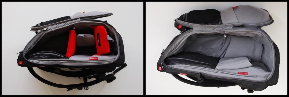 Le sac à dos Manfrotto Travel Backpack, qui peut libérer la place réservée au matériel photo, Ph. Moctar KANE.