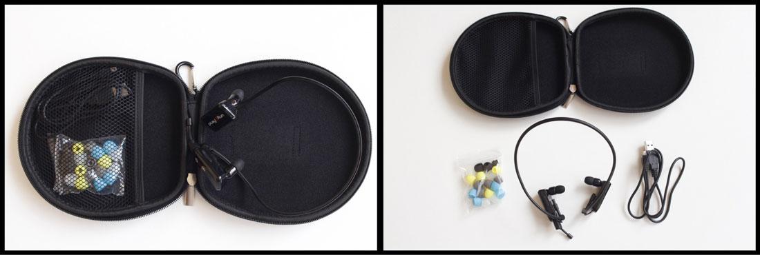 Les écouteurs de sport Bluetooth Play2Run SC12 et leurs accessoires, Ph. Moctar KANE.