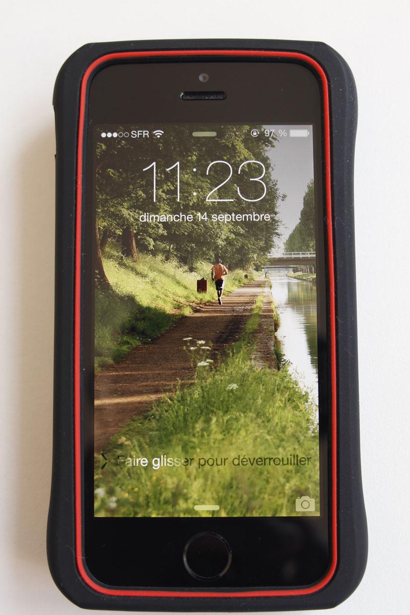 Etui de protection running yurbuds Race Case pour iPhone 5/5S, Ph. Moctar KANE.