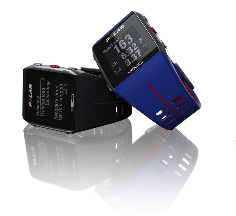 Les deux versions de la montre GPS de sport Polar V800.