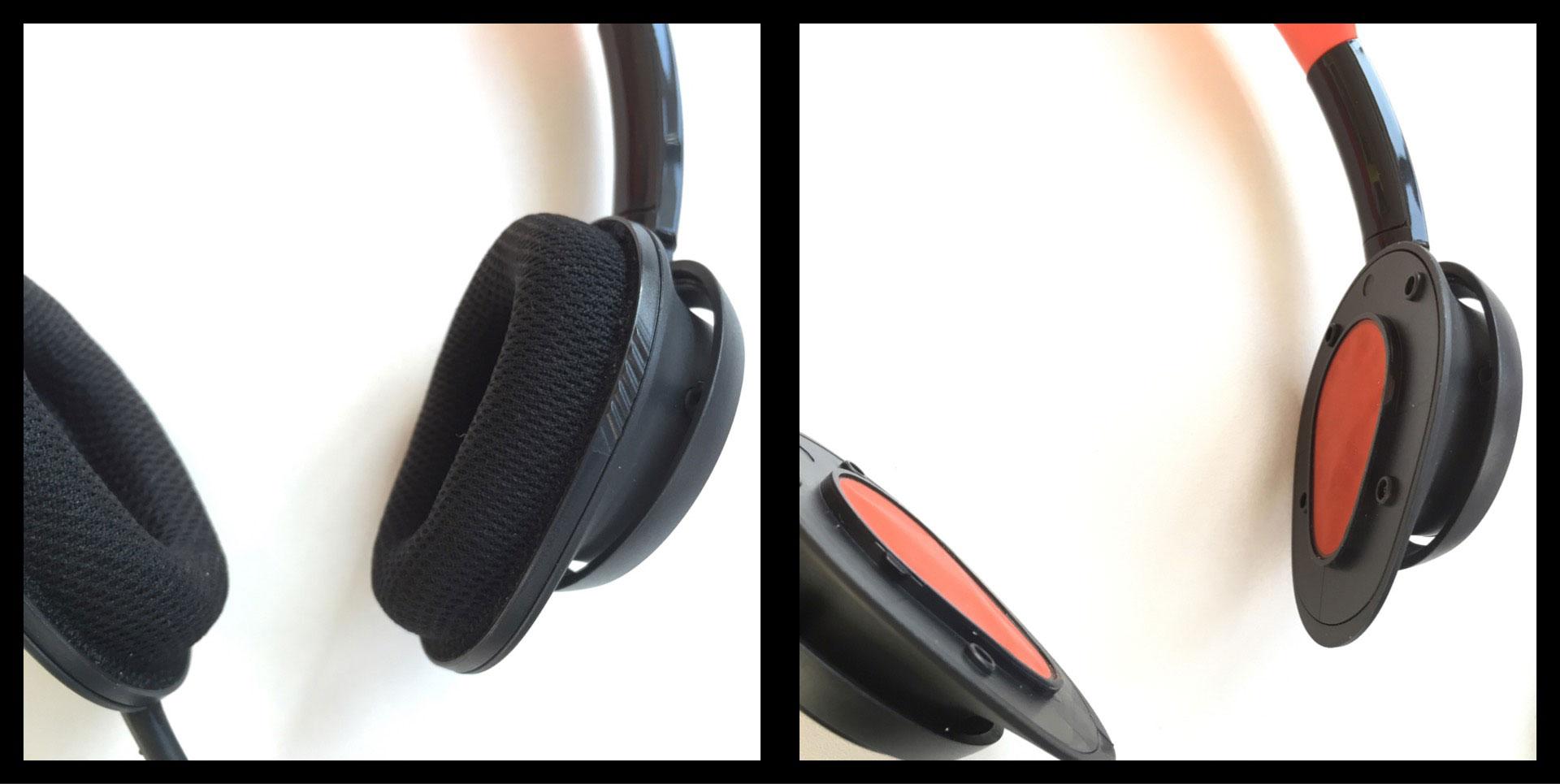 Le casque de sport Philips ActionFit SHQ5200 avec ses coussinets amovibles et lavables, Ph. Moctar KANE.