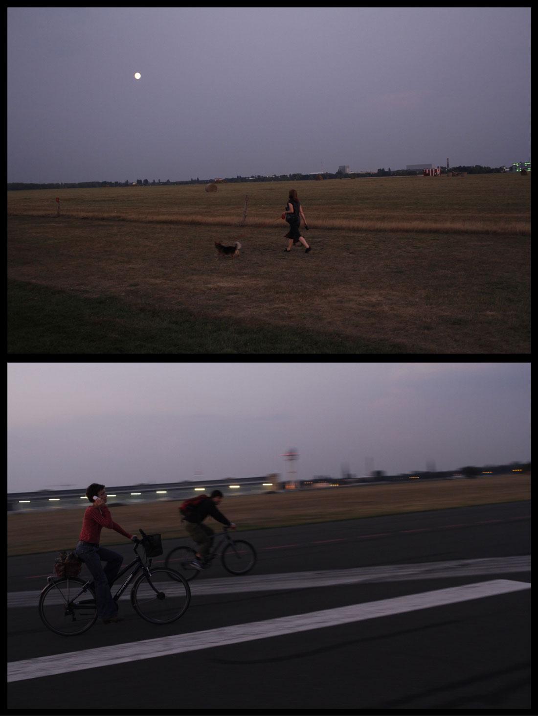 Tempelhofer Park, ancien aéroport, aux environs du crépuscule, Berlin 2014, Ph. Moctar KANE.