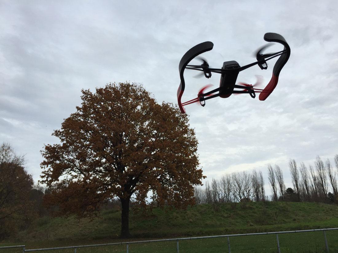 Le drone Parrot Bebop, Ph. Moctar KANE.