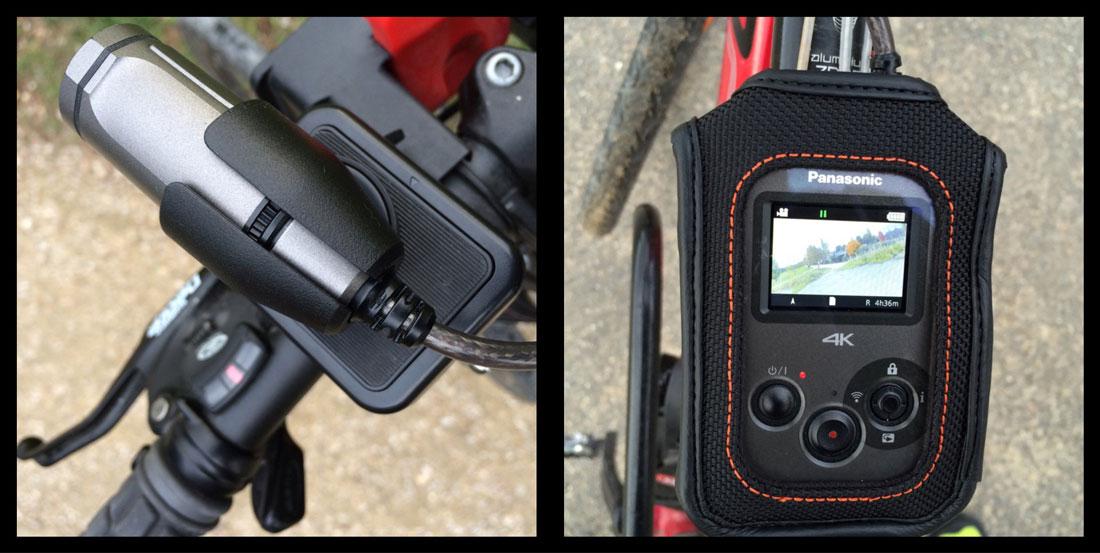 L'action cam Panasonic HX-A500 montée sur un vélo, 2014. Ph. Moctar KANE.