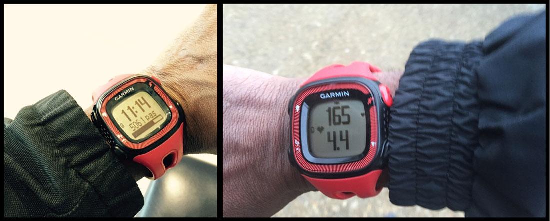 La montre Garmin Forerunner 15 au quotidien et lors d'une course à pied. Ph. Moctar KANE.