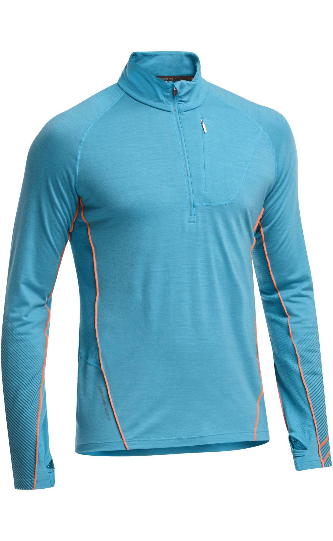 Le tee-shirt en laine mérinos Icebreaker Drive Long Sleeve Half Zip.