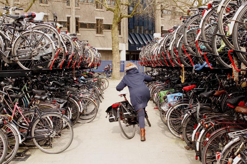 Parking vélo près de la gare centrale, Utrecht, 2014. Ph. Moctar KANE.