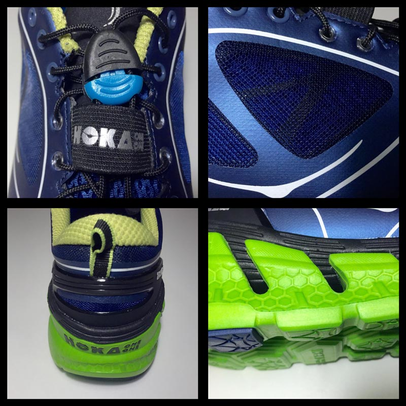 Chaussure de running Hoka One One Conquest : détails. 2015 Ph Moctar KANE.
