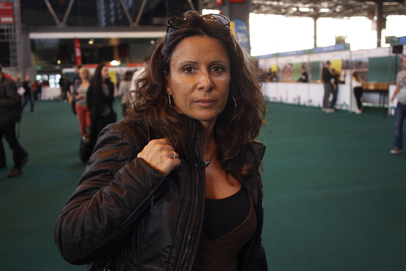 Giovanna, au Salon du Running du Marathon de Paris 2015. Ph. Moctar KANE.