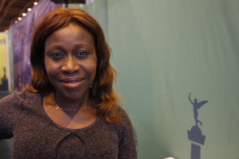 Tina, au Salon du Running du Marathon de Paris 2015. Ph. Moctar KANE.