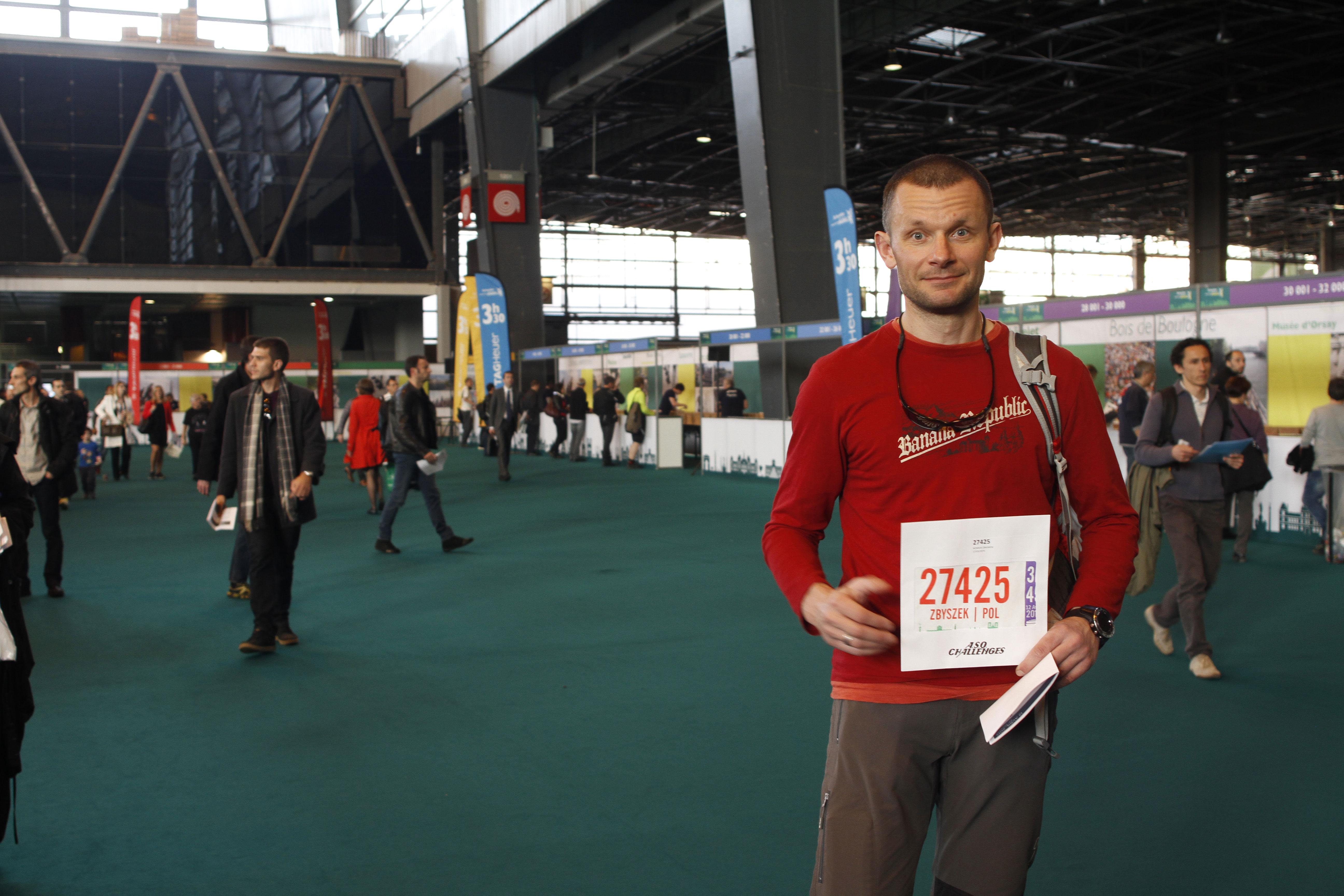 Zbyszek, au Salon du Running du Marathon de Paris 2015. Ph. Moctar KANE.