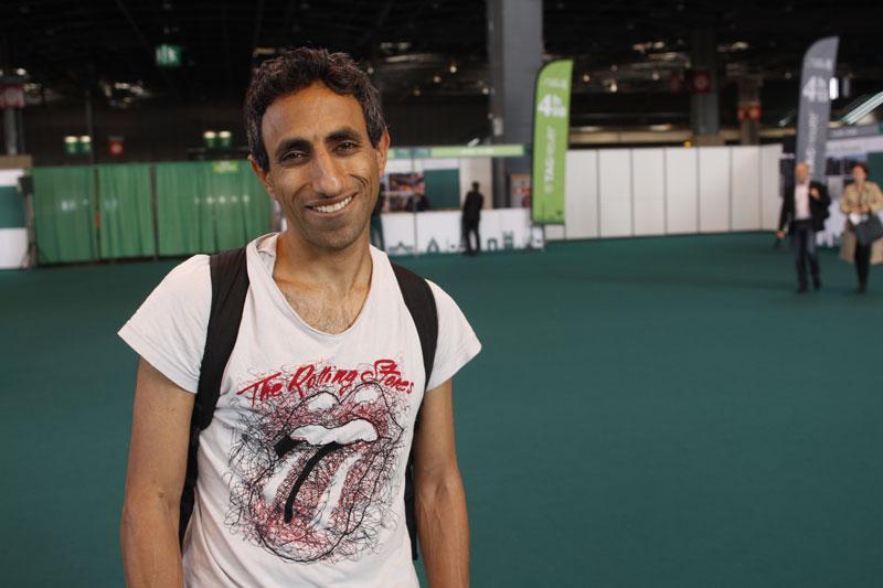 David, au Salon du Running du Marathon de Paris 2015. Ph. Moctar KANE.