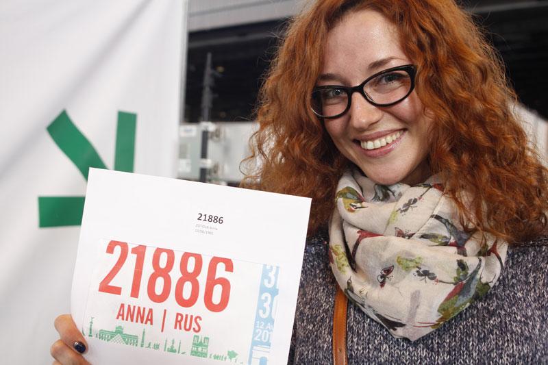 Anna, au Salon du Running du Marathon de Paris 2015. Ph. Moctar KANE.