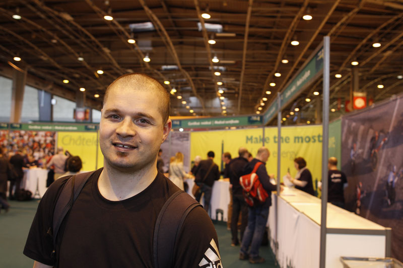 Olivier, au Salon du Running du Marathon de Paris 2015. Ph. Moctar KANE.
