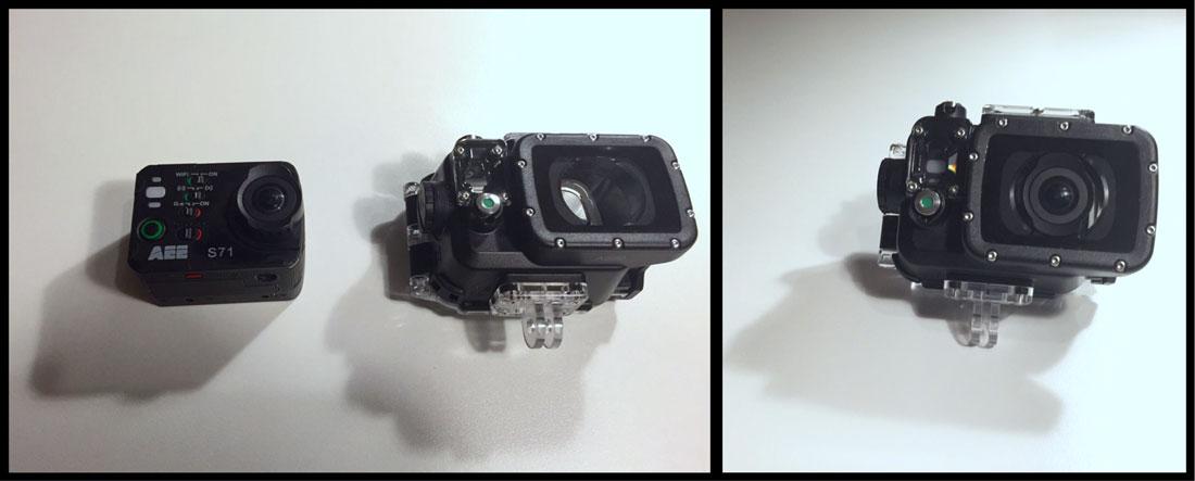 La caméra d'action PNJ AEE S71 et son caisson hermétique, 2014, Ph. Moctar KANE.
