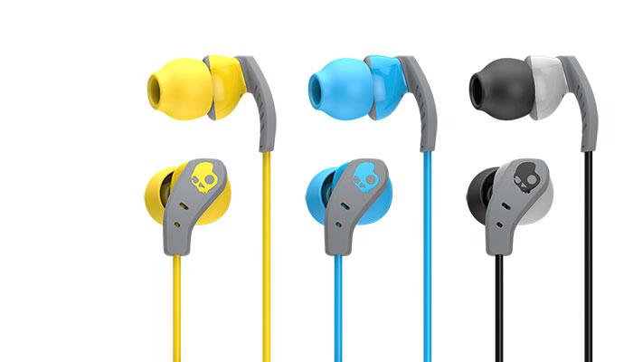 Les trois versions des écouteurs intras de sport Skullcandy Method.