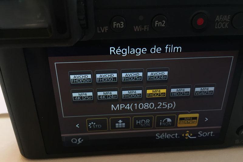 Réglage de la vidéo du Panasonic Lumix DMC-LX100, 2015, Ph. Moctar KANE.